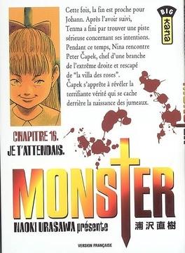 Couverture du livre : Monster, tome 16 : Je t'attendais
