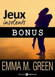 Couverture du livre : Jeux Insolents - Bonus - Jeux éternels