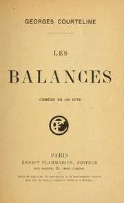 Couverture du livre : Les Balances