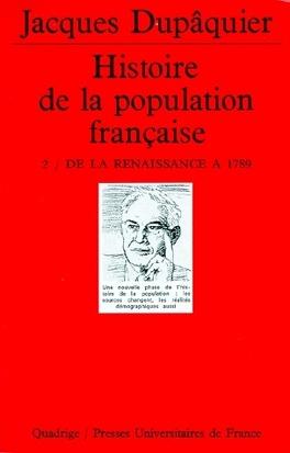 Couverture du livre : Histoire de la population française, tome 2 : de la Renaissance à 1789