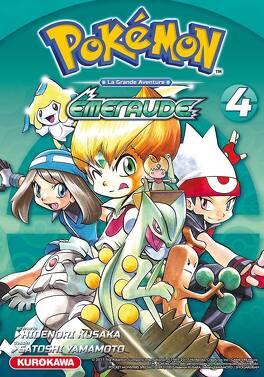 Couverture du livre : Pokémon, la grande aventure - Rouge feu, Vert feuille et Emeraude, tome 4