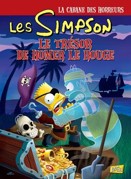 Couverture du livre : Les Simpson – La Cabane des horreurs, Tome 4 : Le Trésor de Homer le rouge