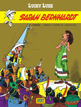 Couverture du livre : Lucky Luke, Tome 49 : Sarah Bernhardt