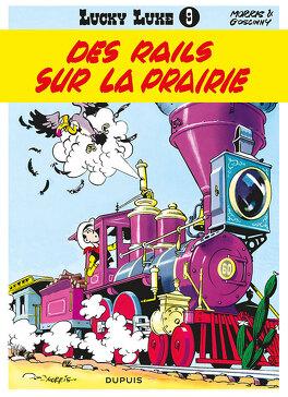 Couverture du livre : Lucky Luke, Tome 9 : Des rails sur la prairie